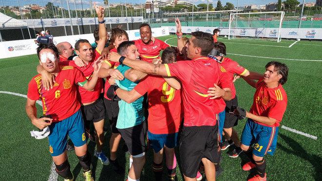 Somos campeones de Europa de fútbol para ciegos por octava vez