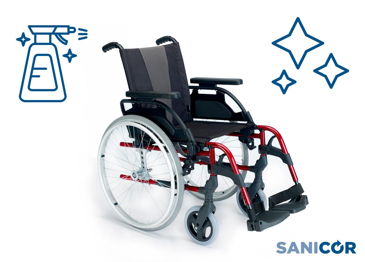 Desinfecta tu silla de ruedas